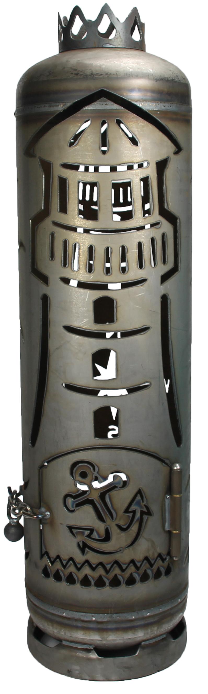 Qualität Mini-Feuertonne Deko Feuerschale Motiv zum stecken Stahl Anker